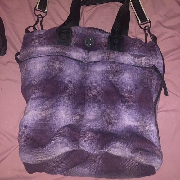 Plaid soft lululemon bag